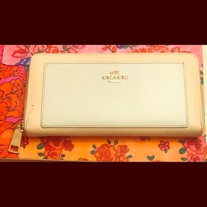 Gently used Coach Large Zipper Wallet